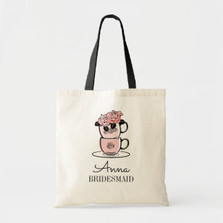 Tea Teacup Bridal Shower Bridesmaid Tote Bag