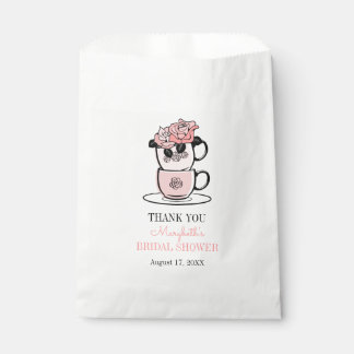 Tea Teacup Flowers Bridal Shower Favor Bags