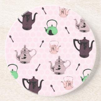 Tea teapot coster coaster