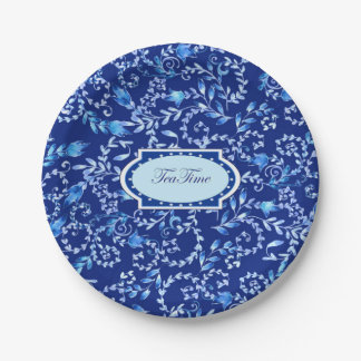 """""""Tea Time, 2"""" - Custom Paper Plates 7 in 7 Inch Paper Plate"""