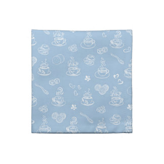 Tea time airy blue napkin
