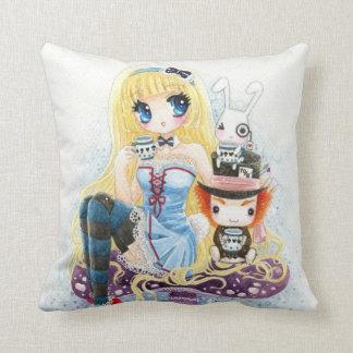 Tea time - Alice in Wonderland Pillow