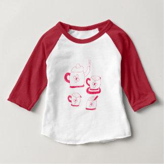 Tea Time American Apparel 3/4Sleeve Raglan T-Shirt