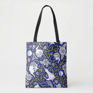 Tea Time Blue Tote Bag
