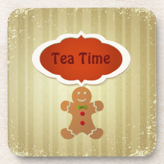 Tea Time & Christmas Gingerbread Man Coasters