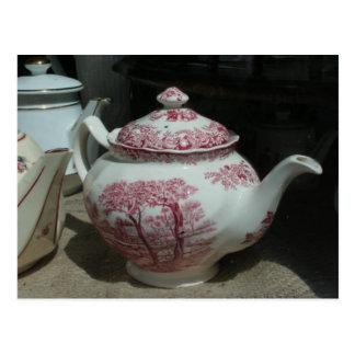 Tea Time English Teapot Postcard