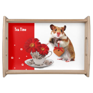 Tea Time. Funny Hamster Gift Serving Tray