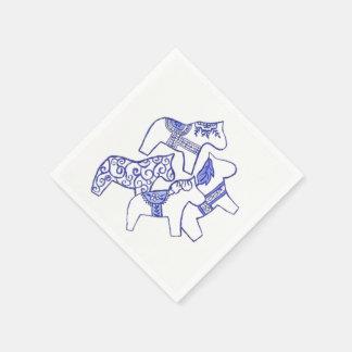 Tea Time Horses Paper Napkin