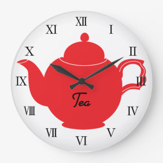 Tea Time Kitchen Clock