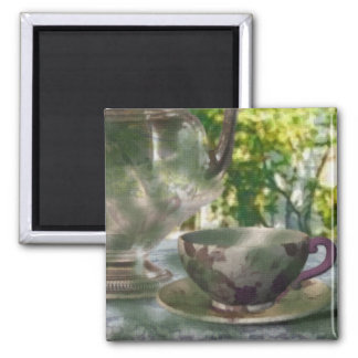 Tea Time Square Magnet