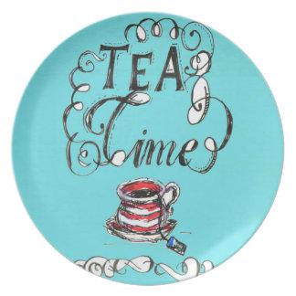 Tea Time - Melamine Plate (2)