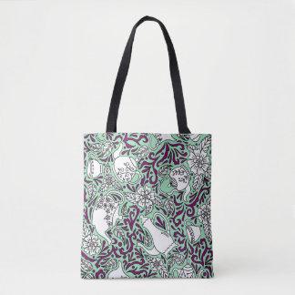 Tea Time Mint Green Tote Bag