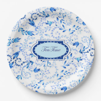 """Tea Time"" - Paper Plates 9 in 9 Inch Paper Plate"