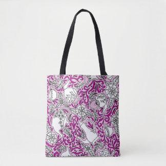 Tea Time Pink Tote Bag
