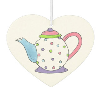 Tea Time Polka Dot Teapot Tea Party Teaparty