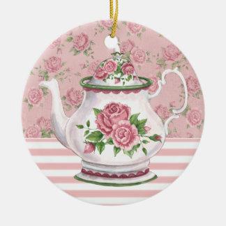 Tea Time Round Ceramic Decoration