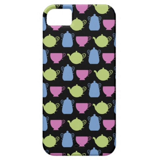 tea time: tea pots and cups iPhone 5 cases