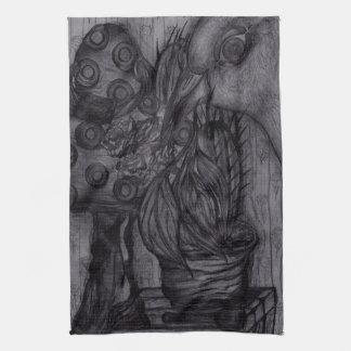 "Tea Towel 40.6 cm x 61 cm ""Bird and flower"""