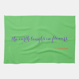 tea towel - beautiful happy earth