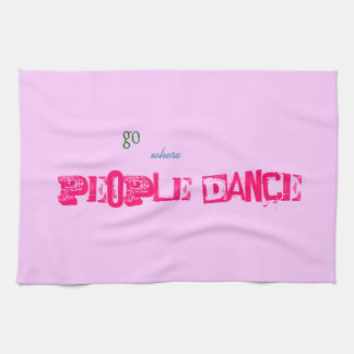 Tea Towel - people dance