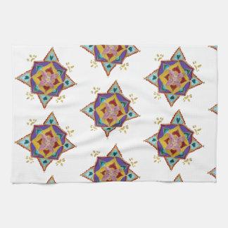 Tea Towel Pink Yellow Mandala