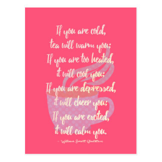 Tea will... quote poster postcard
