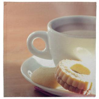 Tea with biscuit cloth napkins