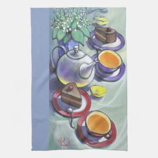 Tea  with Black Forest Cake Tea Towel