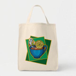 Tea With Lemon Grocery Tote Bag