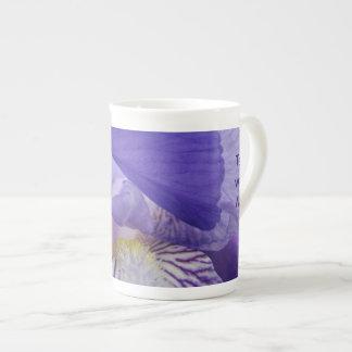 Tea with Me! Bone Chine Tea Cup Iris Flower