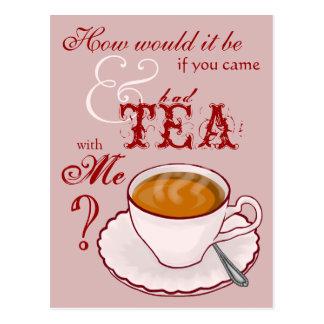 Tea with Me Postcard