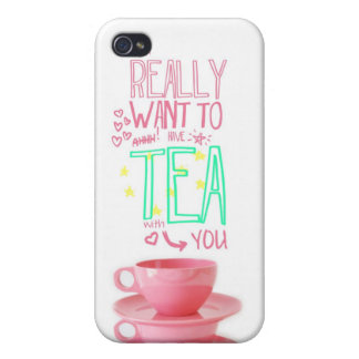 Tea with You Covers For iPhone 4