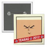 Teabag 2012 Square Pinback Button