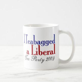 Teabag a Liberal (Tea Party 2009) Basic White Mug