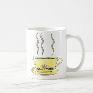 teabag in a teacup basic white mug