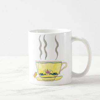 teabag in a teacup coffee mug