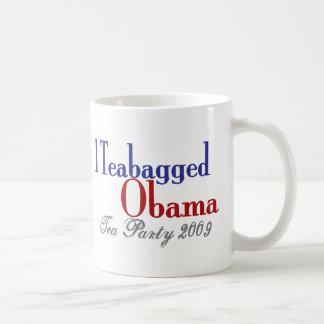 Teabag Obama (Tea Party 2009) Basic White Mug