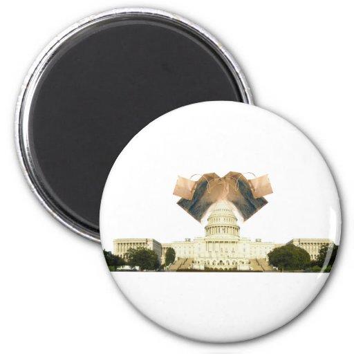 Teabag the U.S. Capitol 6 Cm Round Magnet