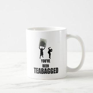 Teabagged Basic White Mug