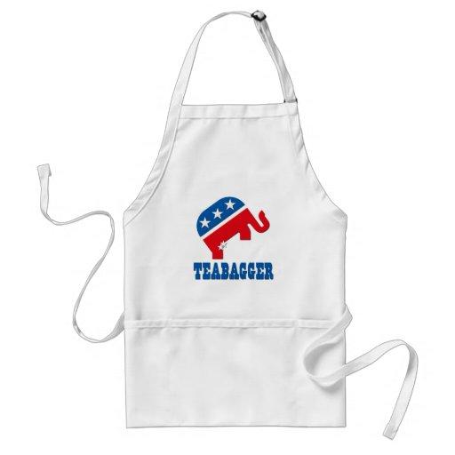 Teabagger Republican Democrat Tea Party Politics Apron