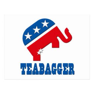 Teabagger Republican Democrat Tea Party Politics Postcard