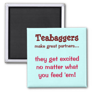 Teabaggers Square Magnet