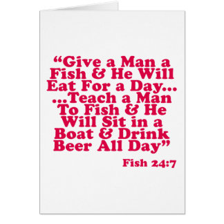 Teach a Man To Fish Card