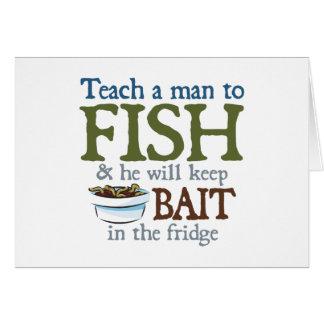 Teach A Man To Fish Greeting Card