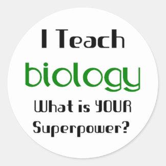 Teach Biology Round Sticker