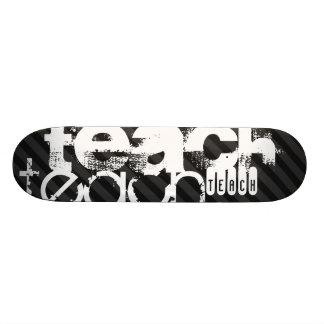 Teach; Black & Dark Gray Stripes Skateboard Decks