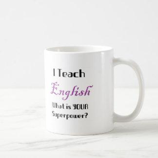 Teach English Basic White Mug