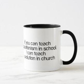 Teach Evolution In Church Mug