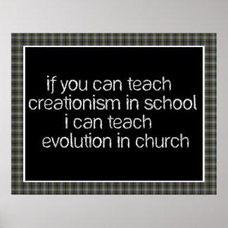 Teach Evolution In Church Poster