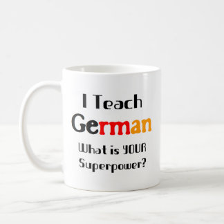 Teach german coffee mug